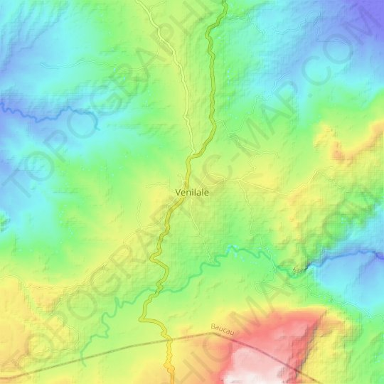 Venilale topographic map, relief map, elevations map