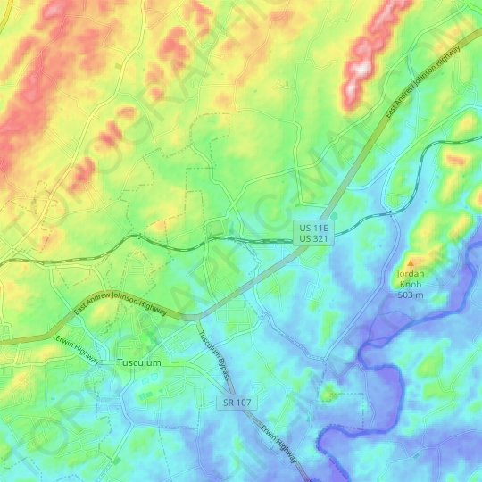 Afton topographic map, elevation, relief
