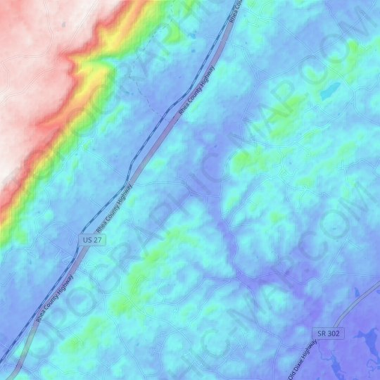 Concord topographic map, elevation, relief