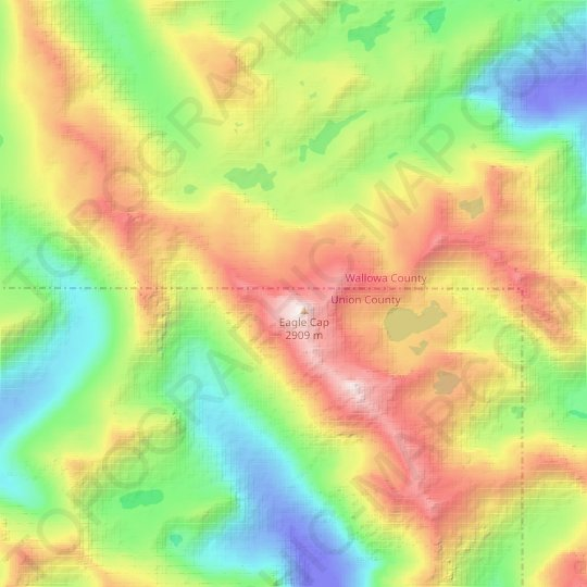 Benson Glacier topographic map, relief map, elevations map