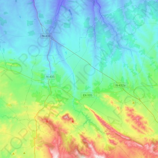 Nogales topographic map, relief map, elevations map