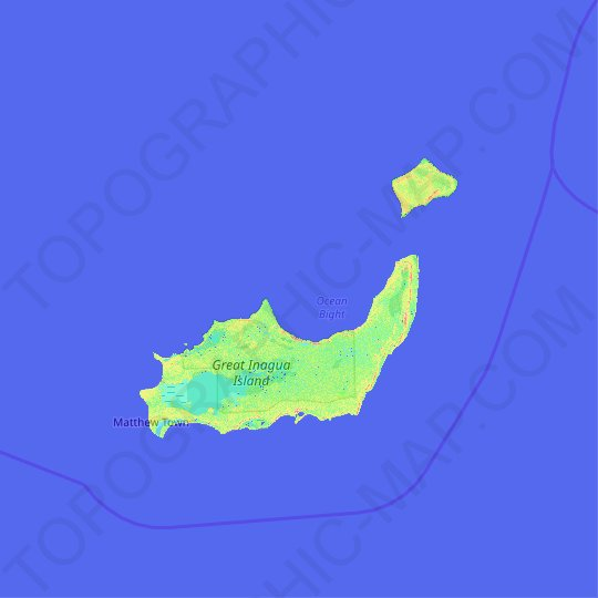 Inagua topographic map, relief map, elevations map