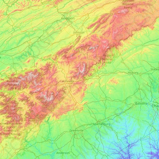 Map Of Pisgah National Forest Hiking Trails - map : Resume ... |Pisgah National Forest Map