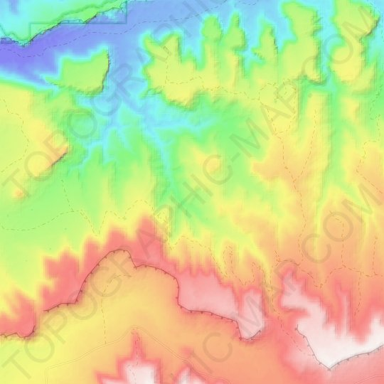 Kings Canyon topographic map, elevation, relief